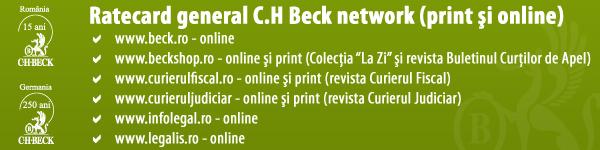 Ratecard general Editura C.H. Beck