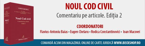 Noul Cod civil. Comentariu pe articole. Editia 2