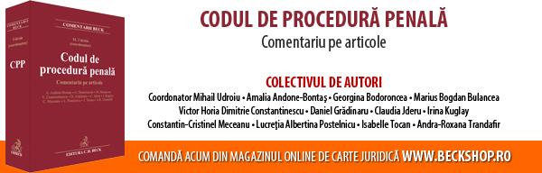 Codul de procedura penala. Comentariu pe articole