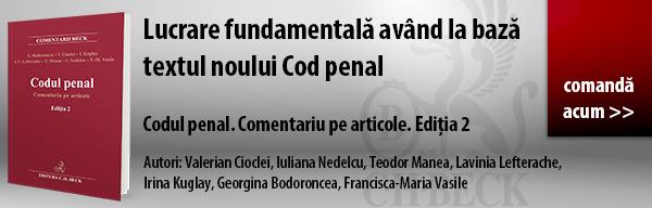 Codul penal. Comentariu pe articole. Ediția 2