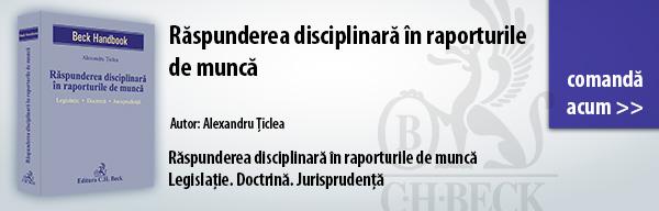 Răspunderea disciplinară în raporturile de muncă
