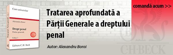 Recomandare editorială: Drept penal. Partea generala. Conform noului Cod penal. Editia 3