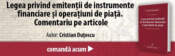Legea privind emitenții de instrumente financiare și operațiuni de piață. Comentariu pe articole