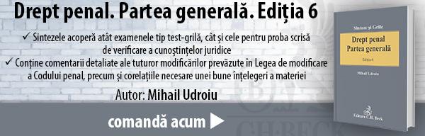 Drept penal. Partea generală. Ediția 6 (Mihail Udroiu)