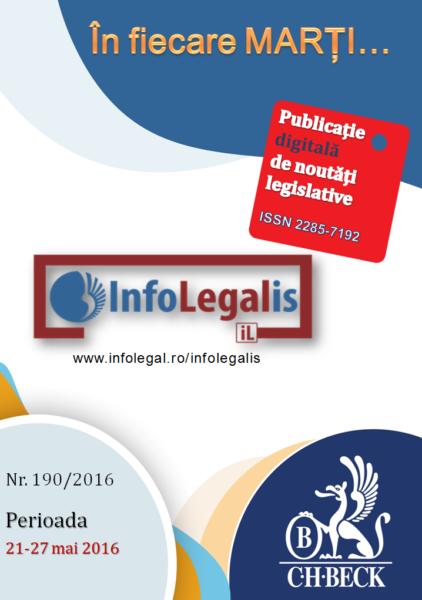 InfoLEGALis 190/2016